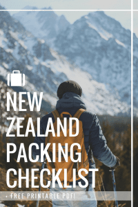 New Zealand packing checklist