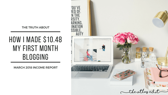 The Truth About My First Month Blogging Income4