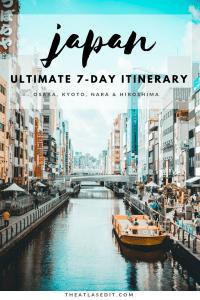 The Perfect 7 Day Itinerary for Osaka, Kyoto, Nara and Hiroshima, Japan