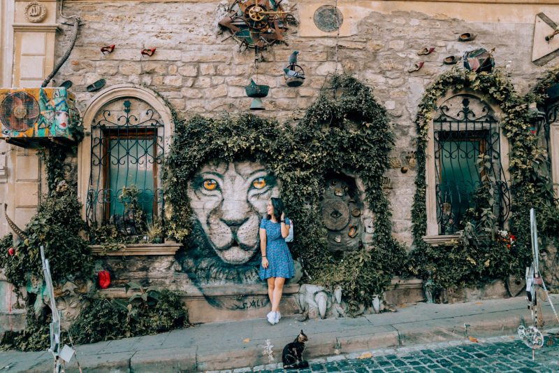 Lion Mural, Baku
